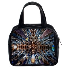 Iron Glass Space Light Classic Handbags (2 Sides) by Mariart