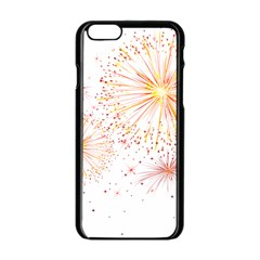 Fireworks Triangle Star Space Line Apple Iphone 6/6s Black Enamel Case by Mariart