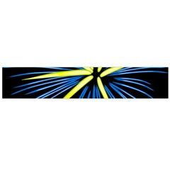 Fireworks Blue Green Black Happy New Year Flano Scarf (large) by Mariart