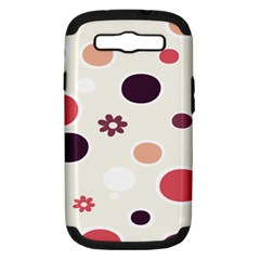 Polka Dots Flower Floral Rainbow Samsung Galaxy S Iii Hardshell Case (pc+silicone) by Mariart