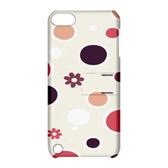 Polka Dots Flower Floral Rainbow Apple Ipod Touch 5 Hardshell Case With Stand by Mariart