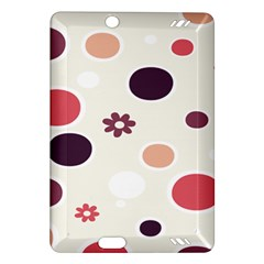 Polka Dots Flower Floral Rainbow Amazon Kindle Fire Hd (2013) Hardshell Case by Mariart