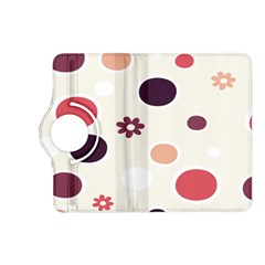 Polka Dots Flower Floral Rainbow Kindle Fire Hd (2013) Flip 360 Case by Mariart