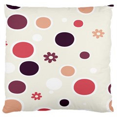 Polka Dots Flower Floral Rainbow Standard Flano Cushion Case (two Sides) by Mariart