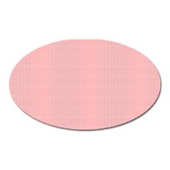 Red Polka Dots Line Spot Oval Magnet by Mariart