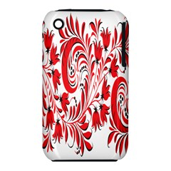 Red Flower Floral Leaf Iphone 3s/3gs by Mariart