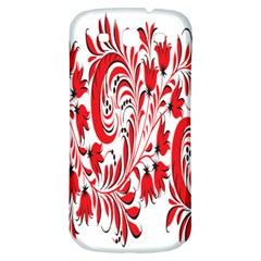 Red Flower Floral Leaf Samsung Galaxy S3 S Iii Classic Hardshell Back Case by Mariart