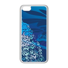 Peacock Bird Blue Animals Apple Iphone 5c Seamless Case (white) by Mariart