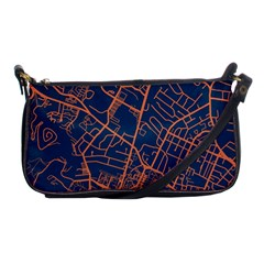 Virginia Map Art City Shoulder Clutch Bags by Mariart