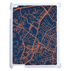 Virginia Map Art City Apple Ipad 2 Case (white) by Mariart