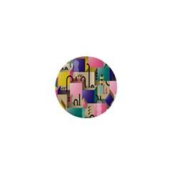 Magazine Balance Plaid Rainbow 1  Mini Buttons by Mariart
