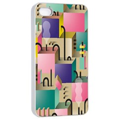 Magazine Balance Plaid Rainbow Apple Iphone 4/4s Seamless Case (white) by Mariart