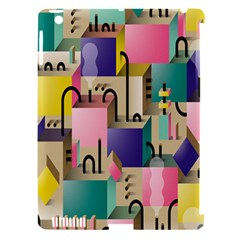 Magazine Balance Plaid Rainbow Apple Ipad 3/4 Hardshell Case (compatible With Smart Cover) by Mariart