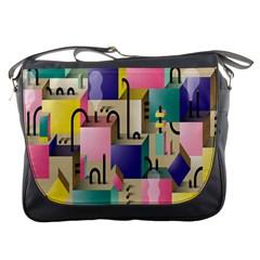 Magazine Balance Plaid Rainbow Messenger Bags by Mariart