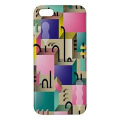 Magazine Balance Plaid Rainbow Iphone 5s/ Se Premium Hardshell Case by Mariart