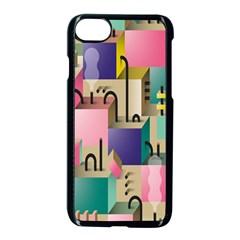 Magazine Balance Plaid Rainbow Apple Iphone 7 Seamless Case (black) by Mariart
