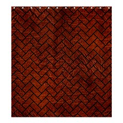 Brick2 Black Marble & Reddish Brown Leather Shower Curtain 66  X 72  (large)  by trendistuff