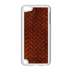 Brick2 Black Marble & Reddish Brown Leather Apple Ipod Touch 5 Case (white) by trendistuff