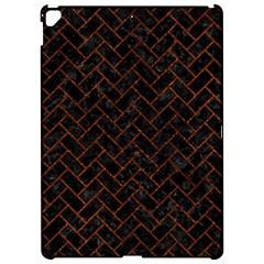 Brick2 Black Marble & Reddish Brown Leather (r) Apple Ipad Pro 12 9   Hardshell Case by trendistuff