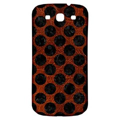 Circles2 Black Marble & Reddish Brown Leather Samsung Galaxy S3 S Iii Classic Hardshell Back Case by trendistuff