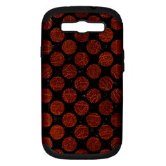 Circles2 Black Marble & Reddish Brown Leather (r) Samsung Galaxy S Iii Hardshell Case (pc+silicone) by trendistuff