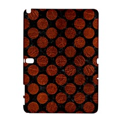 Circles2 Black Marble & Reddish Brown Leather (r) Galaxy Note 1 by trendistuff