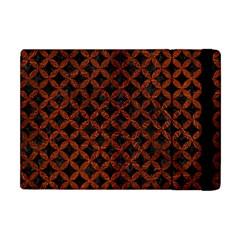 Circles3 Black Marble & Reddish Brown Leather (r) Apple Ipad Mini Flip Case by trendistuff