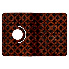 Circles3 Black Marble & Reddish Brown Leather (r) Kindle Fire Hdx Flip 360 Case by trendistuff