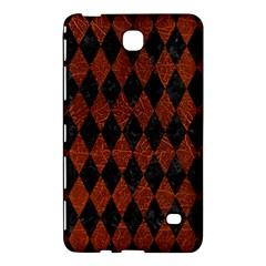Diamond1 Black Marble & Reddish Brown Leather Samsung Galaxy Tab 4 (8 ) Hardshell Case  by trendistuff