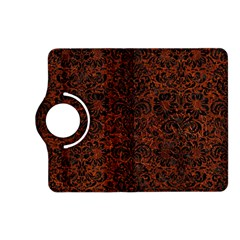 Damask2 Black Marble & Reddish Brown Leather Kindle Fire Hd (2013) Flip 360 Case by trendistuff