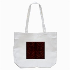 Damask2 Black Marble & Reddish Brown Leather Tote Bag (white) by trendistuff