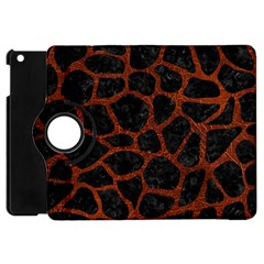 Skin1 Black Marble & Reddish Brown Leather Apple Ipad Mini Flip 360 Case by trendistuff