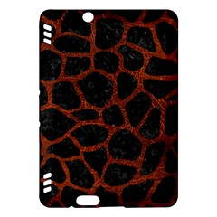 Skin1 Black Marble & Reddish Brown Leather Kindle Fire Hdx Hardshell Case by trendistuff