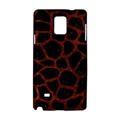 Skin1 Black Marble & Reddish Brown Leather Samsung Galaxy Note 4 Hardshell Case by trendistuff