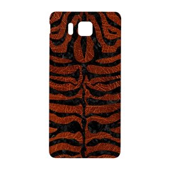 Skin2 Black Marble & Reddish Brown Leather Samsung Galaxy Alpha Hardshell Back Case by trendistuff