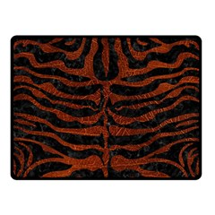 Skin2 Black Marble & Reddish Brown Leather (r) Double Sided Fleece Blanket (small)  by trendistuff
