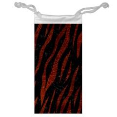 Skin3 Black Marble & Reddish Brown Leather (r) Jewelry Bag by trendistuff