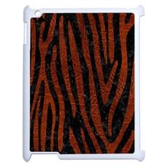 Skin4 Black Marble & Reddish Brown Leather Apple Ipad 2 Case (white) by trendistuff