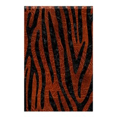 Skin4 Black Marble & Reddish Brown Leather (r) Shower Curtain 48  X 72  (small)  by trendistuff