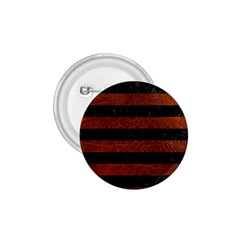 Stripes2 Black Marble & Reddish Brown Leather 1 75  Buttons by trendistuff