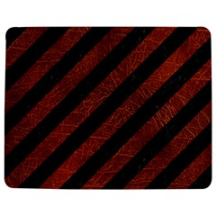 Stripes3 Black Marble & Reddish Brown Leather (r) Jigsaw Puzzle Photo Stand (rectangular) by trendistuff