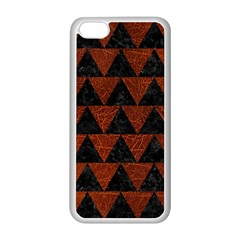 Triangle2 Black Marble & Reddish Brown Leather Apple Iphone 5c Seamless Case (white) by trendistuff