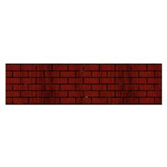 Brick1 Black Marble & Reddish Brown Wood Satin Scarf (oblong) by trendistuff