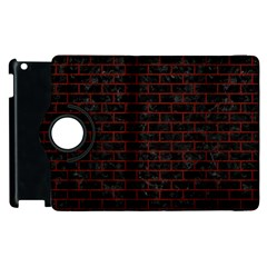 Brick1 Black Marble & Reddish Brown Wood (r) Apple Ipad 2 Flip 360 Case by trendistuff