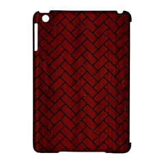 Brick2 Black Marble & Reddish Brown Wood Apple Ipad Mini Hardshell Case (compatible With Smart Cover) by trendistuff