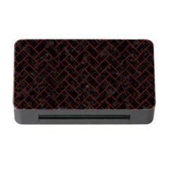 Brick2 Black Marble & Reddish Brown Wood (r) Memory Card Reader With Cf by trendistuff