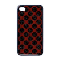Circles2 Black Marble & Reddish Brown Wood Apple Iphone 4 Case (black) by trendistuff