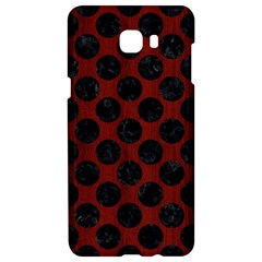 Circles2 Black Marble & Reddish Brown Wood Samsung C9 Pro Hardshell Case  by trendistuff