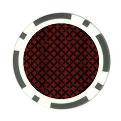 Circles3 Black Marble & Reddish Brown Wood Poker Chip Card Guard by trendistuff