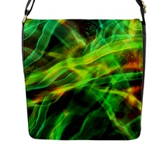Abstract Shiny Night Lights 1 Flap Messenger Bag (l)  by tarastyle